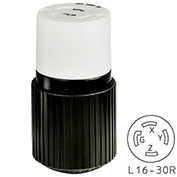 Bryant TECHSPEC® Connector, L16-30, 30A, 3ph 480V AC, Black/White