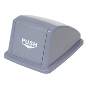 "Recycling Trash Lid Only, 13""W x 18""D x 9""H, Gray"