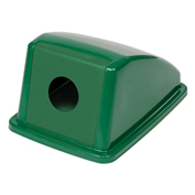 "Recycling Bottle & Can Lid Only, 13""W x 18""D x 9""H, Green"