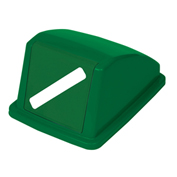 "Recycling Paper Lid Only, 13""W x 18""D x 9""H, Green"