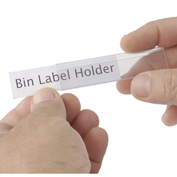 "Tri-Dex Label Holder, 13/16"" x 3"" for Shelf Bin 7x18x4, 25/Pk"