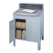"Enclosed Receiving Desk, 32-1/2""W x 30""D x 53""H, Stainless Steel"