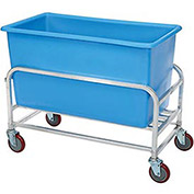 "Aluminum Bulk Mover 8 Bushel 30-8-AL/BL with Blue Tub38-1/2""L x 22""W x 32""H"