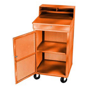 "Receiving/Shop Desk, 24""W x 22""D x 49-1/2""H, Orange"