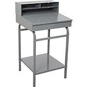 Open Steel Shop Desk - 24x22 - Gray