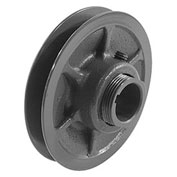 """Single-Groove Variable Pitch Sheave, 1/2"""" Bore, 3.15"""" O. D"""