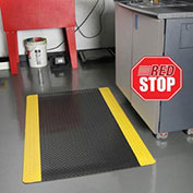 NoTrax Saddle Trax RedStop Mat, 3' x 12', Black/Yellow