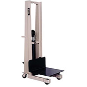 "BEECH Platform Stackers - 5-1/4 to 60"" Lift Height - 24""Wx24""D Platform"