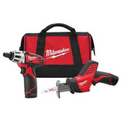 Milwaukee® M12™ Cordless 2 Tool Combo Kit