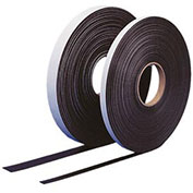 "Self Adhesive Magnetic Strip, 100 ft x 2"" H Roll, Black"