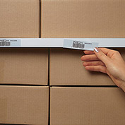 "AIGNER Slip-Strip Self-Adhesive Label Holders - 36"" - Package of 6 - 1.25"