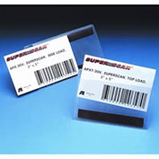 """Magnetic Top Load Label Holders, 4"""" x 6"""", Clear, 50/Pk"""