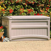 Suncast Premium Deck Box with Wheels, 73 Gallon