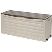 Suncast Deck Box with Rollers, 103 Gallon