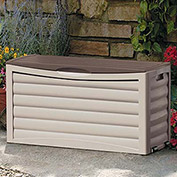 Suncast Deck Box with Rollers, 63 Gallon