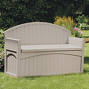 Suncast Patio Bench and Deck Box, 50 Gallon