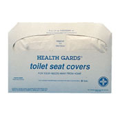 Health Gards Toilet Seat Covers, White, 250 Covers/Pack, 20/Case