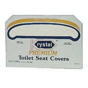 Boardwalk Premium 1/2 Fold Toilet Seat Covers, 250 Covers/Sleeve, 4/Case