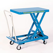 BISHAMON MobiLift Manual Scissors Lift Tables - 330-Lb. Capacity