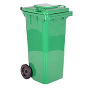 32 Gallon Mobile Trash Can - 3 Green