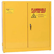 Compact Flammable Cabinet, Self Close Door 24 Gallon