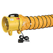 "Portable Ventilation 12"" Fan With 16' Flexible Ducting"