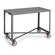 "LITTLE GIANT Single-Shelf Mobile Tables - 48""Wx24""D Shelf"