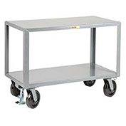 LITTLE GIANT Heavy Duty Mobile Table, 36 x 72, Floor Lock