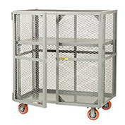 LITTLE GIANT Mobile Storage Locker, Adjustable Shelf, 24 x 48, Poly Whls
