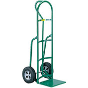 "LITTLE GIANT Reinforced Noseplate Hand Trucks - 10"" Solid Rubber Wheels - D-Handle"