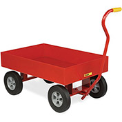 "LITTLE GIANT Shop Wagon With 6"" Lip Edge - 36""Wx24""D Deck - Smooth Deck - 10"" Pneumatic Wheels"