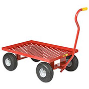Nursery Wagon Truck with Perforated Deck 10 x 2.50, Rubber Wheel