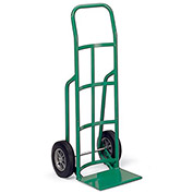 "LITTLE GIANT Reinforced Noseplate Hand Trucks - 10"" Solid Rubber Wheels - Continuous Handle"