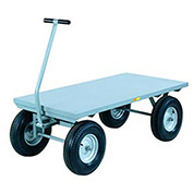 """Wagon Truck withFlush Deck, 30x48, Pneumatic Wheels, 3000 Lb. Capacity"""