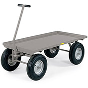 "LITTLE GIANT Shop Wagons - 16"" Pneumatic Wheels - 72""Wx36""D Deck"