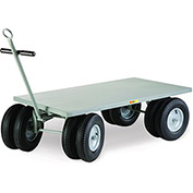 "LITTLE GIANT Eight-Wheel Shop Wagon - 72""Lx36""W Deck - Flush Shelves"
