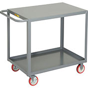 Little Giant All Welded Service Cart, 2 Flush Shelves, 24 x 36