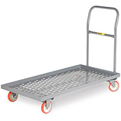 """LITTLE GIANT Platform Trucks with Lip Edge - 36""""Lx24""""W Deck - Perforated Deck"""