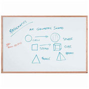 Aarco Display Style White Marker Board, White, 48 x 36