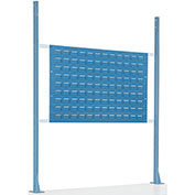 "Risers With Louver Panel for 48"" Workbench, Blue"