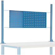 "Risers With Louver/Pegboard Panel for 72"" Workbench, Blue"