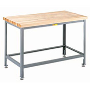 "Maple Butcher Block Table, Adjustable Leg, 24""W x 24""D"