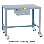 Mobile Steel Top Machine Table - 24 x 36 x 30
