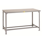 "LITTLE GIANT 4000-Lb. Capacity Workbench with Steel Top - 72x36"" Top - Without Shelf"