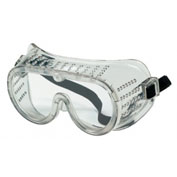 Protective Goggles, Clear Frame, Clear Lens, 1-Pair