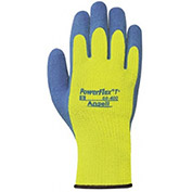 Ansell Powerflex® T Hi-Viz Yellow™ Rubber Coated Gloves, 1-Pair - Pkg Qty 6