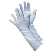 Cotton Inspectors Gloves, Memphis Glove, White, Large, 12 Pairs/Dozen