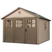"Storage Building with 9' Tri-Folding Doors, 10' 4-1/4""W x 10' 4-1/2""D x 9' 4""H"