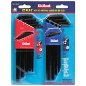 "Eklind .05-3/8"" & 1.5-10MM 22Pc. Metric & SAE Hex Key Set"