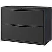 "36""W Premium Lateral File Cabinet, 2 Drawer, Black"